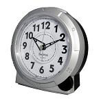 Yale Alarm Clock Silver and White